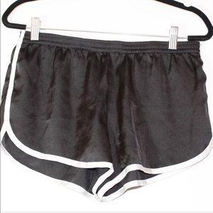 Black lounge shorts  No tags  Fits a small
